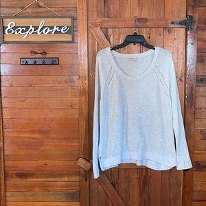 Loft- Woman's light gray sweater size Large.
